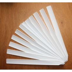 Plastic Labels 20 cm x 1,7 cm wit